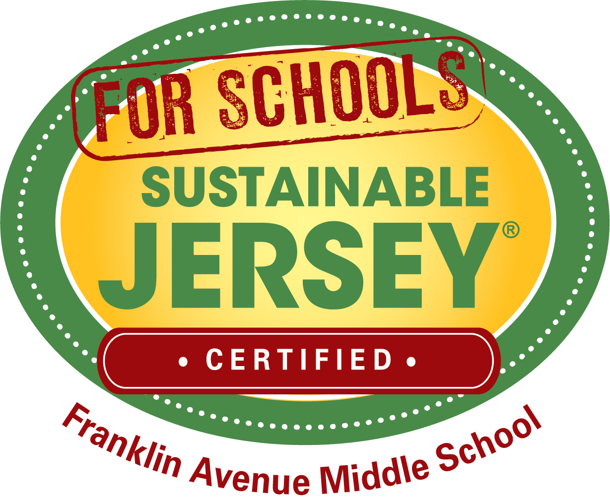 Sustainable Jersey for Schools Certified Award Logo